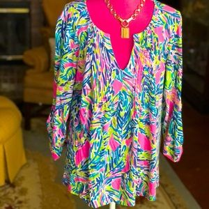 Lilly Pulitzer Beautiful Top XL